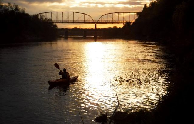 Sunset Kayak on the American River